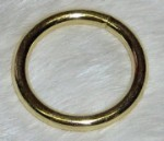 1 Inch Brass Plated O Ring
