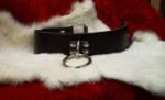 Black Latigo Leather Collar