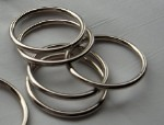 1 1/2 Inch Unwelded Nickel Plated O Ring