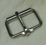 1 1/2 Nickel Plated  Inch Roller Buckle