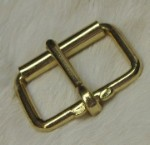 2  Brass Plated Inch Roller Buckle